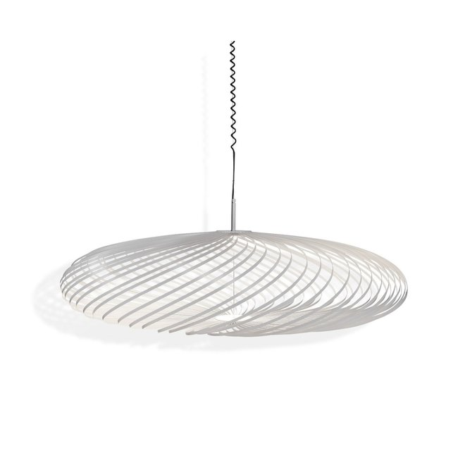 Hanglamp Spring large wit staal