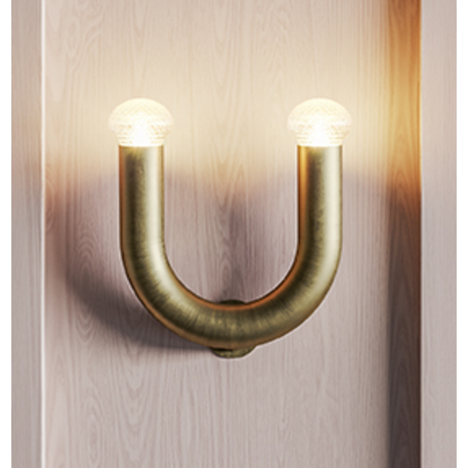 Wandlamp Kingdom - goud bruin