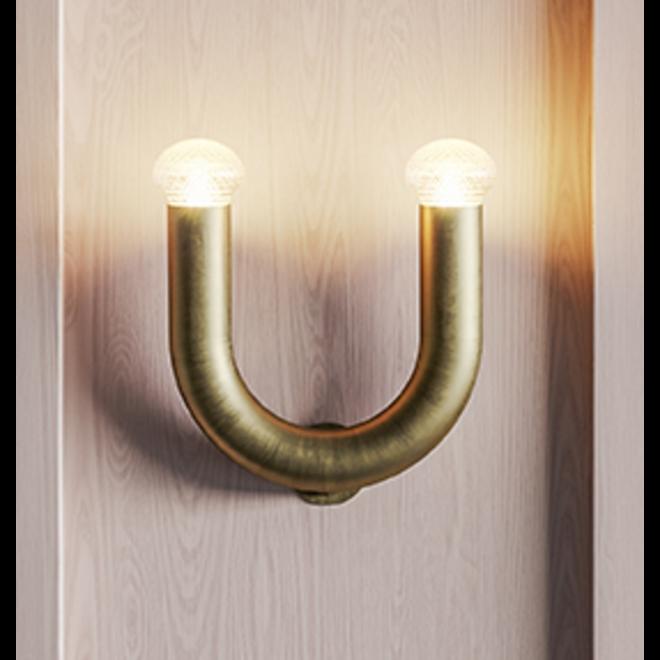 Wandlamp Kingdom - goud/bruin