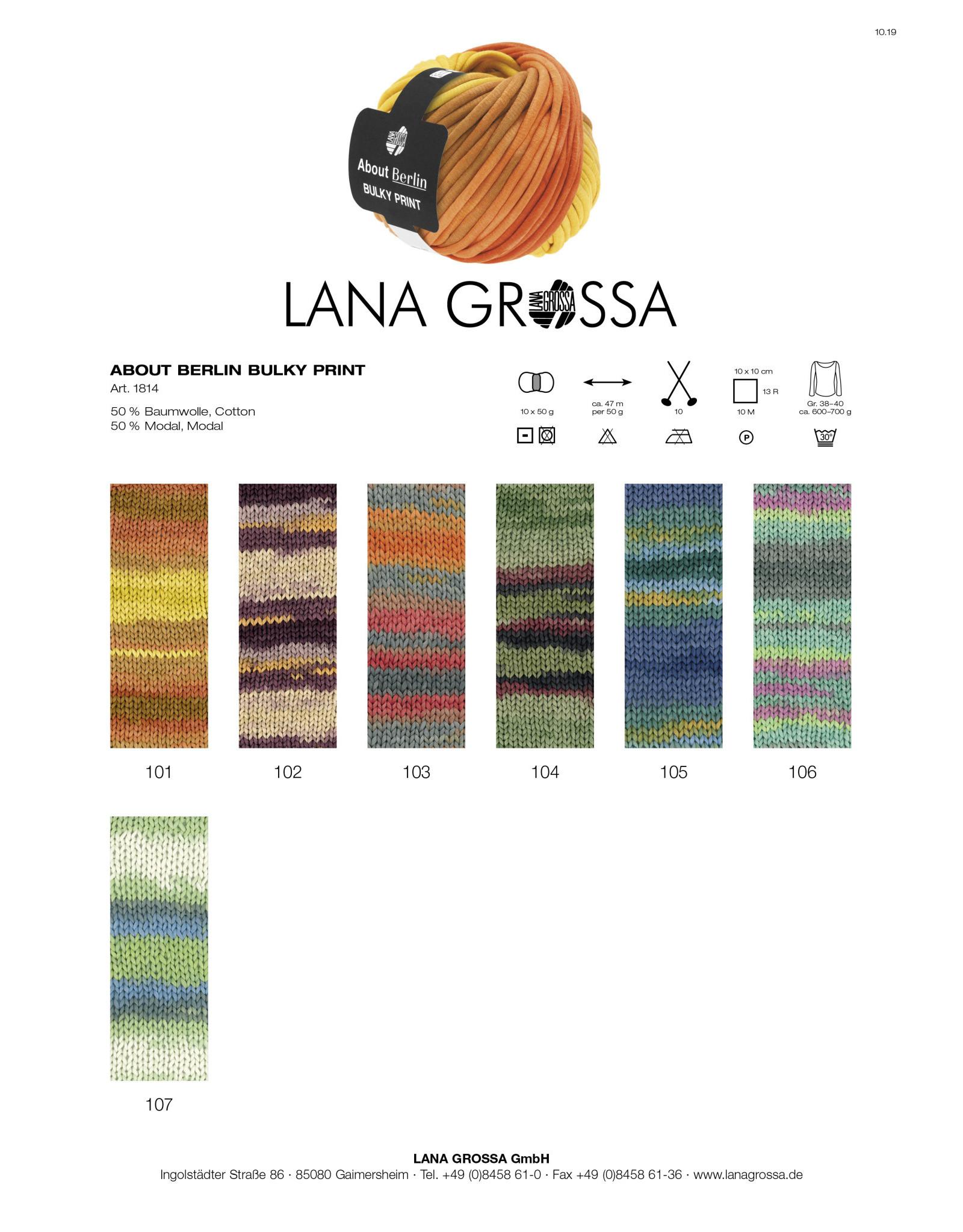Lana Grossa About Berlin Bulky Print van Lana Grossa - 47 m - 50 g