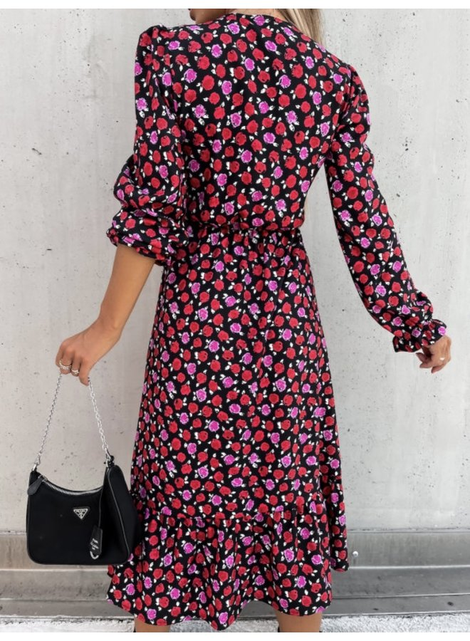Rose split dress