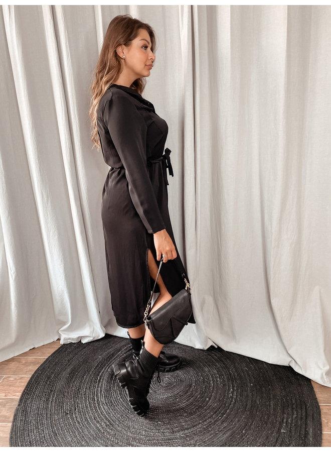 Split blouse dress