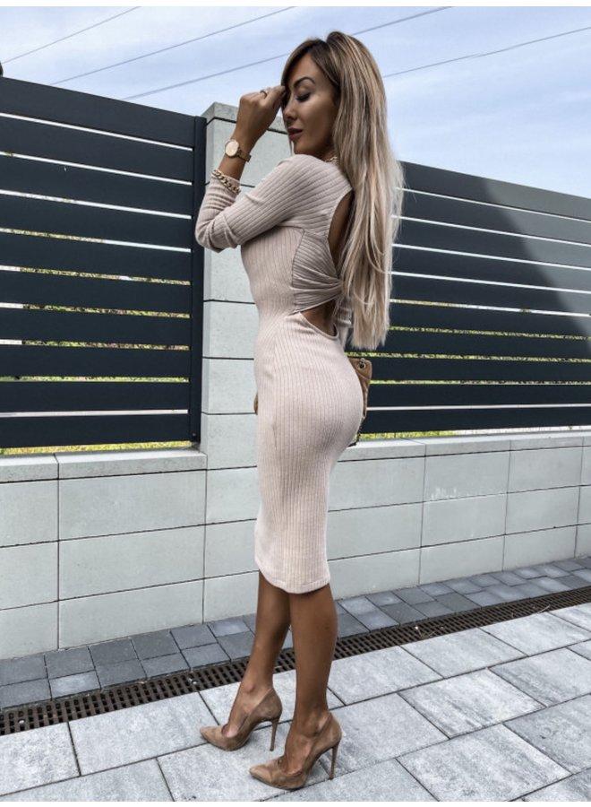 Open rib dress