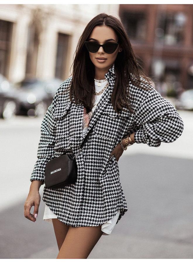 Pied de poule blouse/coat