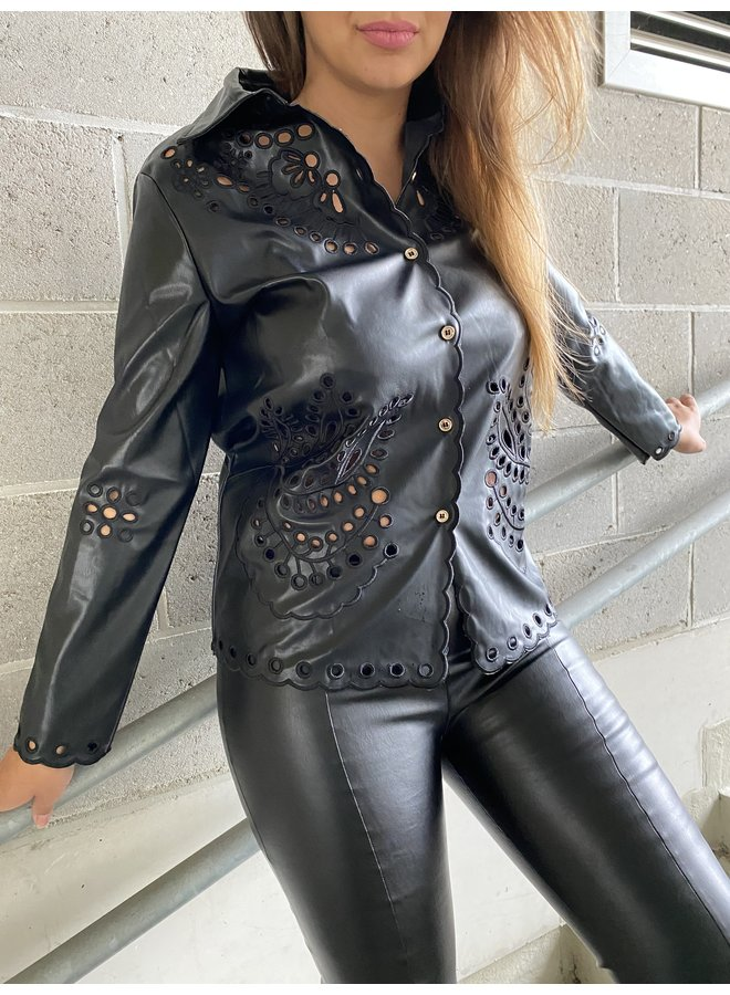 Limited leather blouse