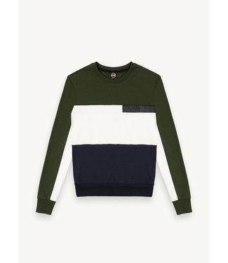 Colmar Sweater Groen, Wit & Blauw
