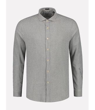 Dstrezzed Overhemd gestreept Wit-Donkerblauw