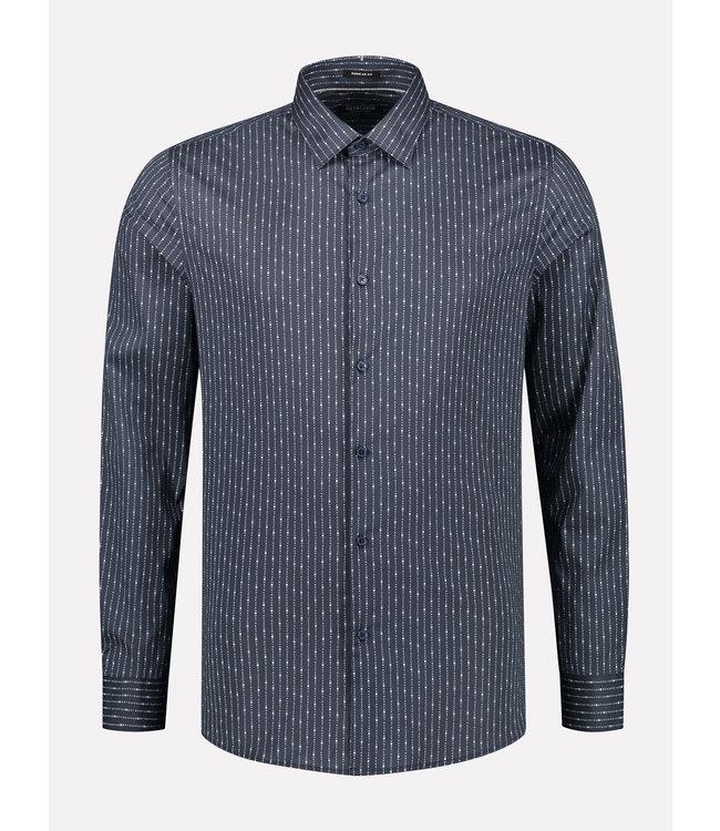 Dstrezzed Overhemd gestreept donkerblauw