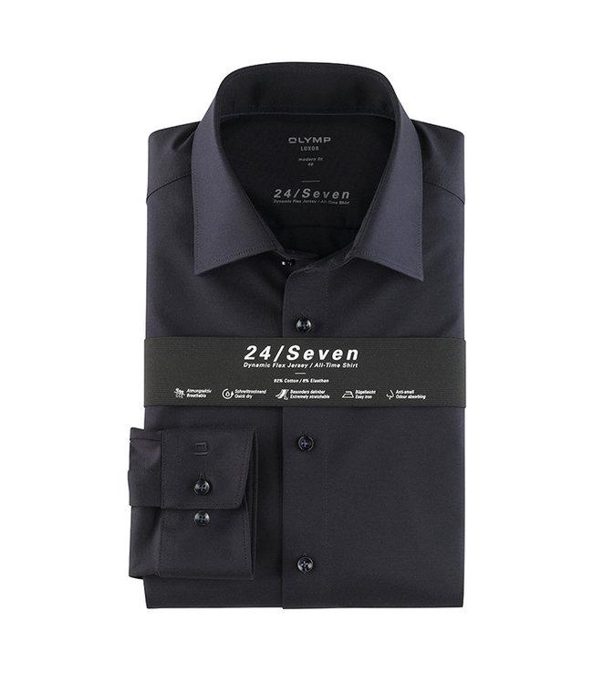 Olymp 24/Seven Body Fit  Overhemd Navy, 20086418