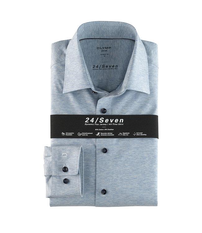 Olymp 24/Seven Modern Fit  Overhemd Lichtblauw, 12026411