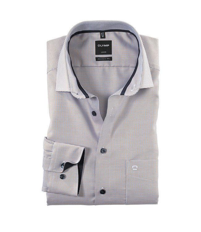 Olymp Modern Fit Overhemd Wit Met Print, 13306427