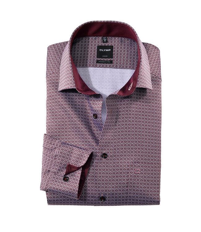 Olymp Modern Fit Overhemd Paars Print, 13406439