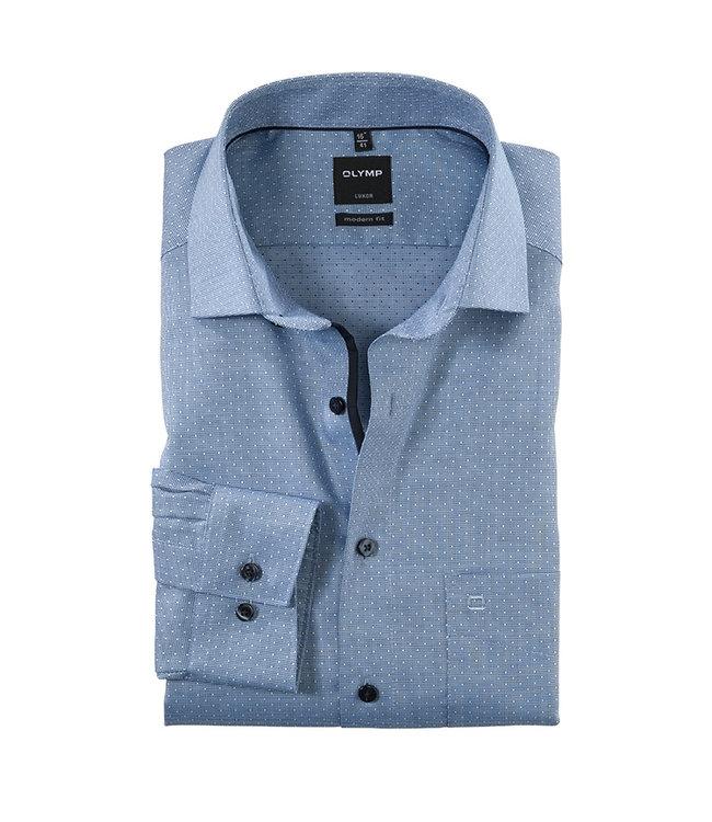 Olymp Modern Fit Overhemd Blauw, 13186418