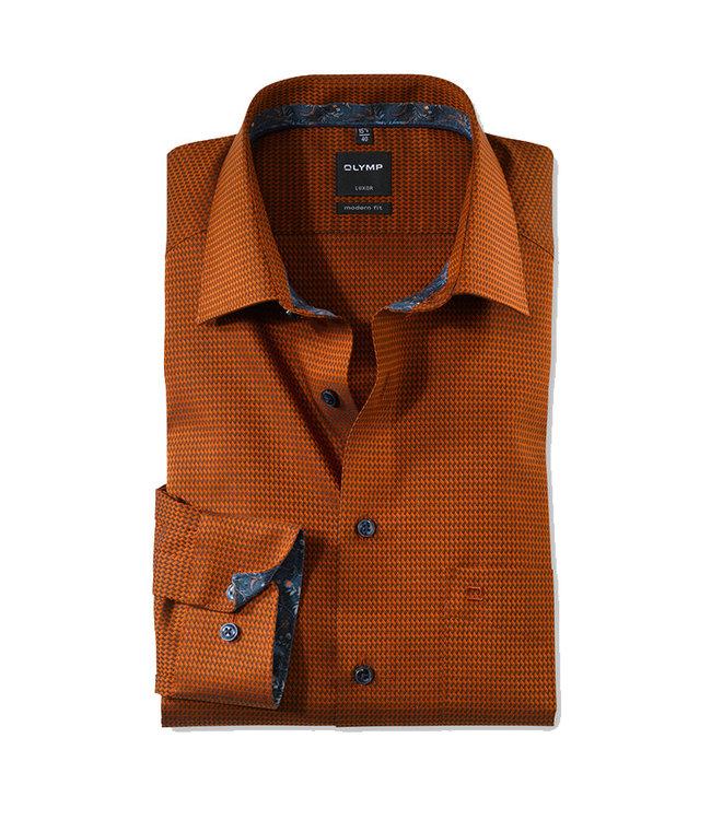 Olymp Modern Fit Overhemd Warm Oranje, 12546434
