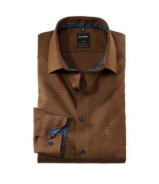 Olymp Modern Fit Overhemd Bruin, 12546427