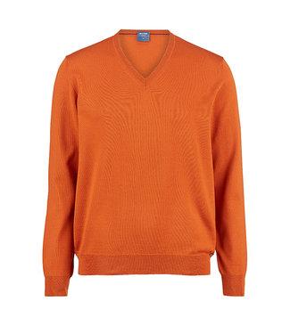 Olymp Casual, V-hals Pullover Oranje, 01501091