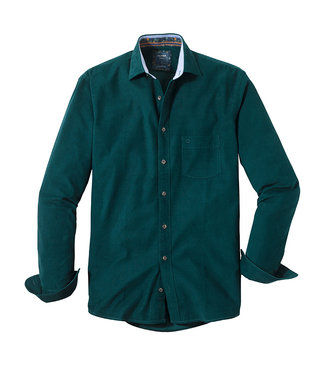 Olymp Casual, Shirt Cord Groen, 40366445