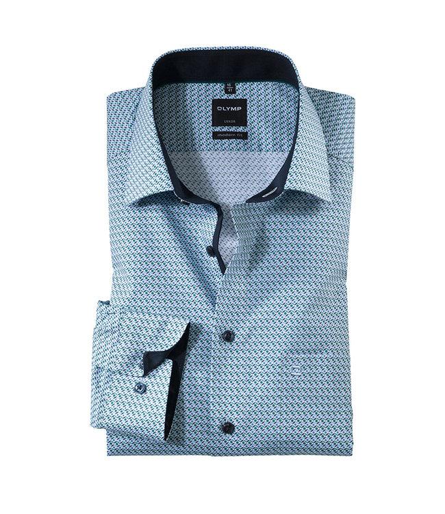Olymp Modern Fit Overhemd Groen, 12566449