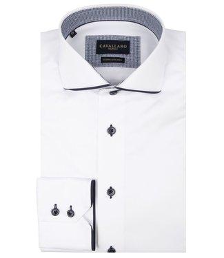 Cavallaro Napoli Overhemd Giovano Wit