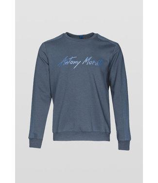 Antony Morato Logo sweater donkerblauw