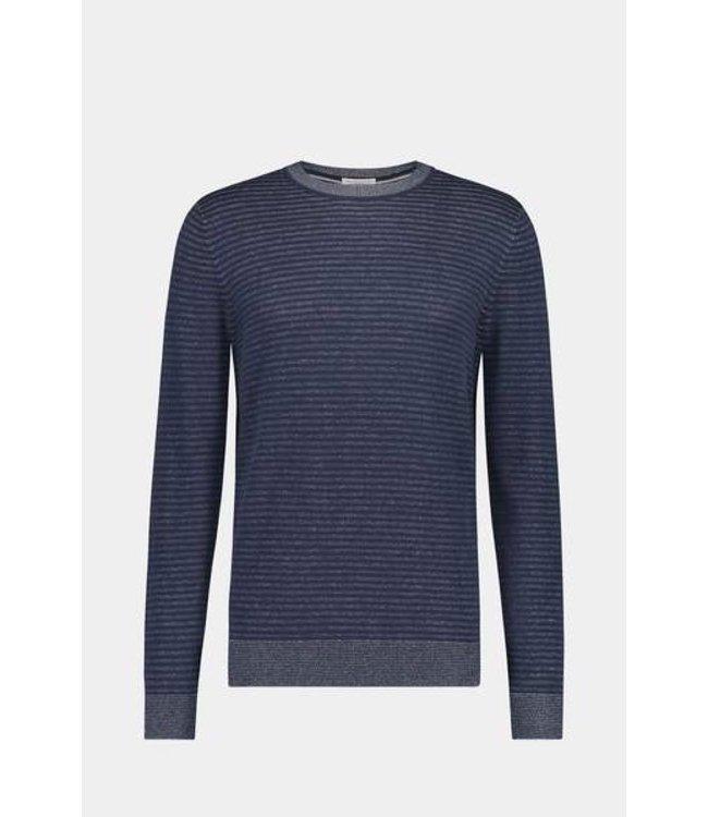 McGregor Sweater donkerblauw gestreept