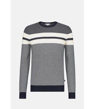 McGregor Sweater grijs met witte streep