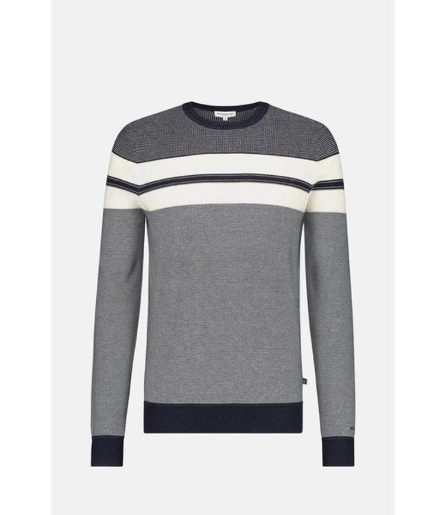 McGregor Sweater blauw met witte streep