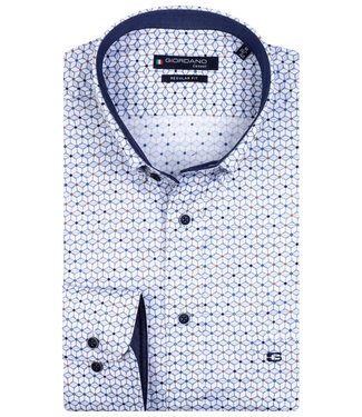 Giordano Overhemd Wit Print