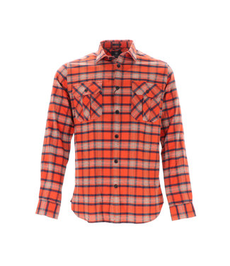 Dstrezzed Dstrezzed, Washed Check Flannel Shirt Orange, 303374 439