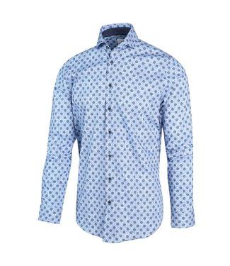 Blue Industry Overhemd Lichtblauw print