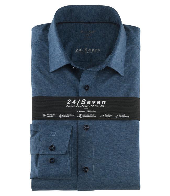 Olymp 24/Seven Modern Fit  Overhemd Blauw, 12026413