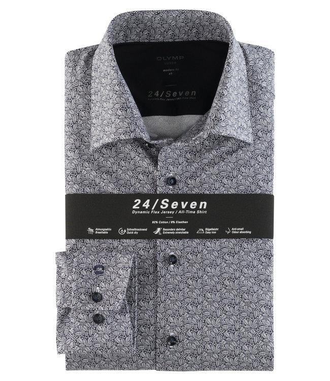Olymp 24/Seven Modern Fit  Overhemd Print, 12146418