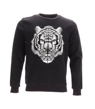 Antony Morato Tiger Print Sweater Zwart