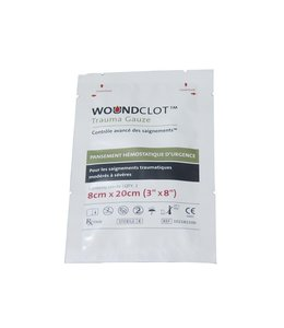 Woundclot Hemostatic bandage 8x20cm