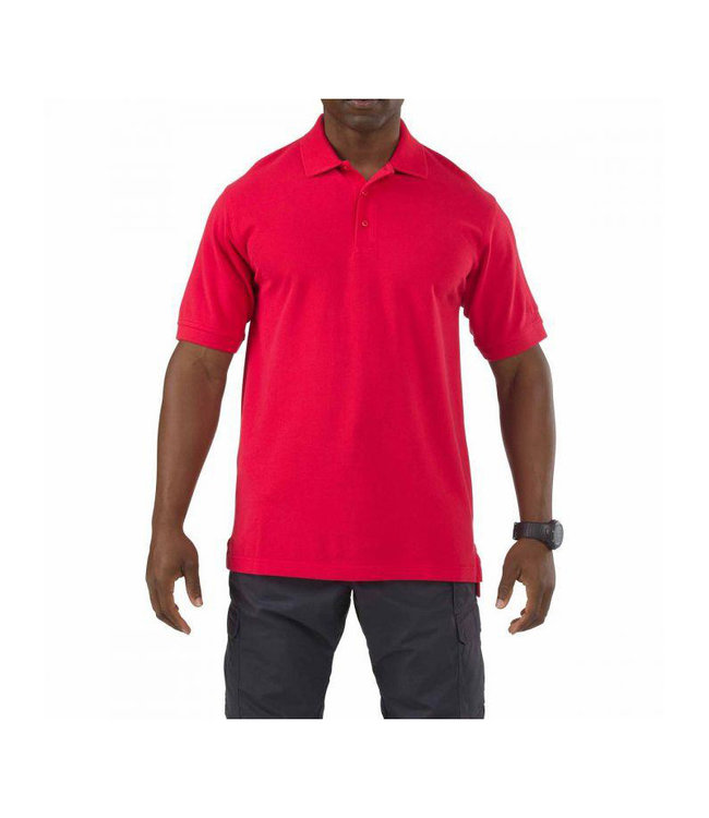 5.11 Tactical Polo Professionnel manches courtes rouge