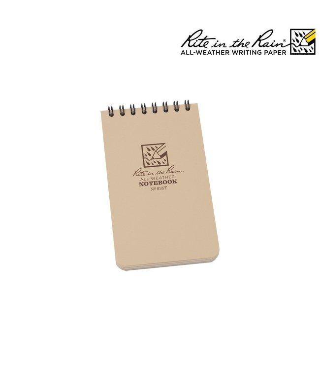 Rite in the Rain notebook 7.6x12.7 sandtone