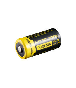 Nitecore Batterijen RCR123A 3,7V RECHARGEABLE