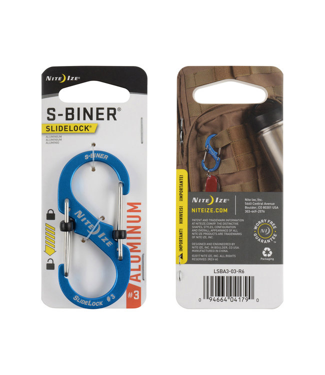 Nite Ize S-Biner #3 Aluminium Blue  Karabiner
