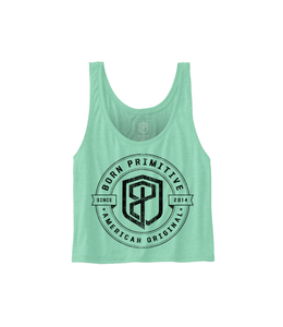 Born Primitive American Original Flowy Crop Tank Mint