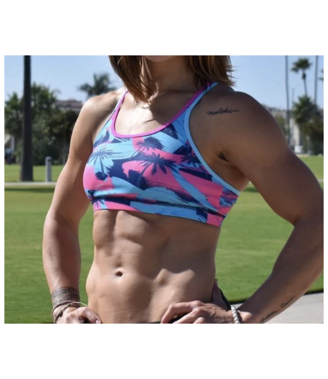 Born Primitive Warrior Sports Bra WZA Pink Palm