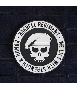 Barbell Regiment We lift - Silicone Patch