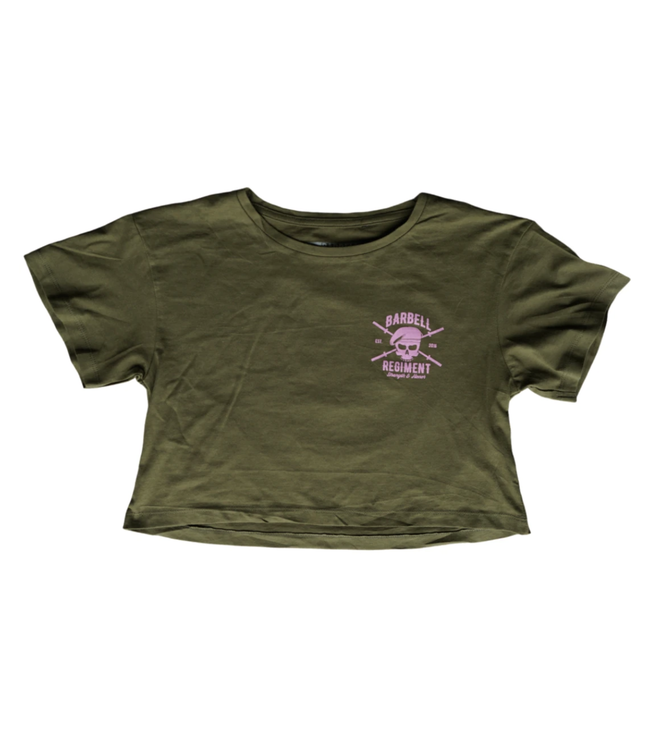 Barbell Regiment The Duty Army Green Crop Top