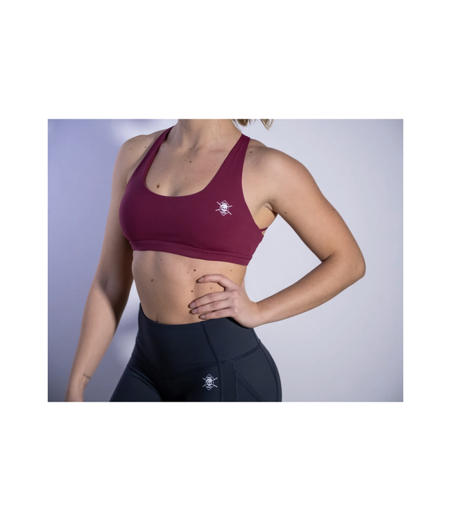 Barbell Regiment CrossX Bra Maroon - Barbell Regiment