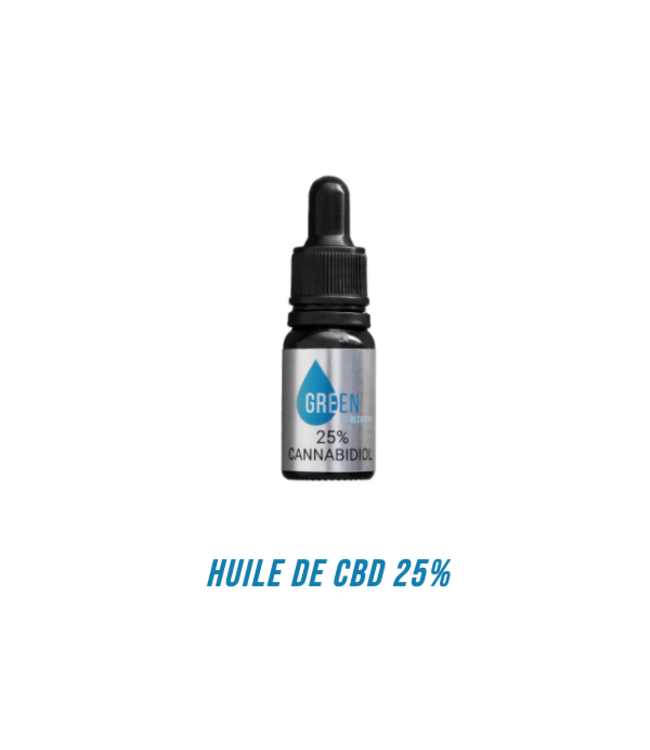 Green Fit Recovery CBD olie 25%.