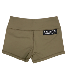 Savage Barbell Booty Short Army