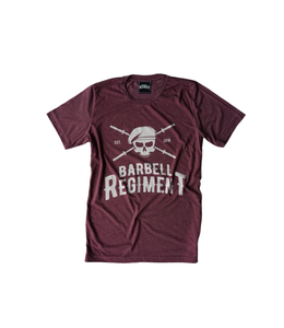 Barbell Regiment Barbell Origins Tee Maroon - Barbell Regiment