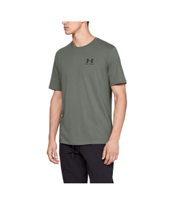 Under Armour T-Shirt Sportstyle Left Chest Tee Moss Green - Under Armour
