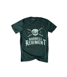 Barbell Regiment Barbell Origins Tee Dark Green - Barbell Regiment
