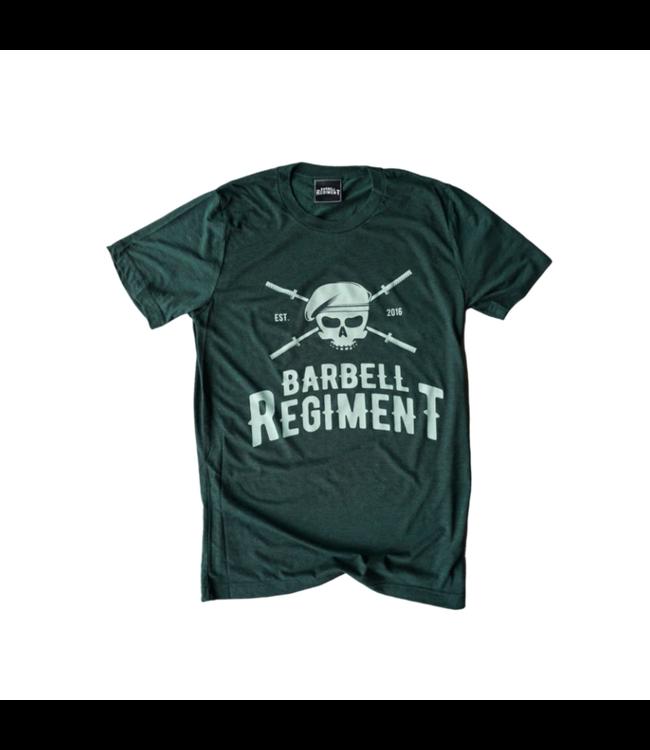 Barbell Regiment Barbell Origins Tee Dark Green - Barbell Regiment