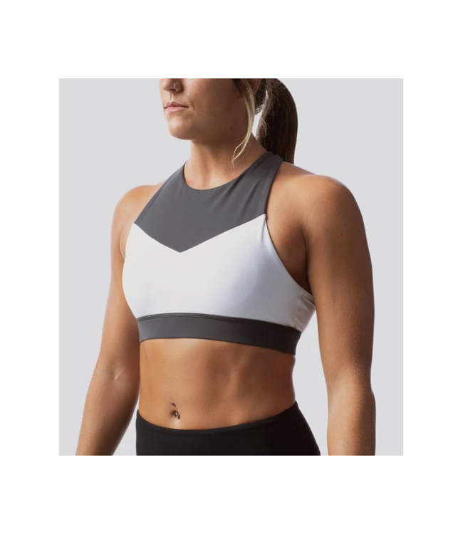 Born Primitive Brassière Movement Sports Bra Drark Grey/White